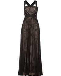 Notte by Marchesa Grosgrain-Trimmed Lace And Tulle Gown - Lyst