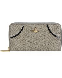 Vivienne Westwood Frilly Snake Zip Around Wallet - Lyst