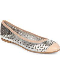 Carvela Kurt Geiger Lemon Cut-Out Ballerina Shoes - For Women - Lyst