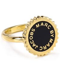 Marc By Marc Jacobs Saw Tooth Enamel Disc Ring - Lyst