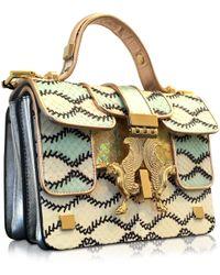 Giancarlo Petriglia - Romantic Multicolor Printed Elaphe Leather Mini P Bag - Lyst
