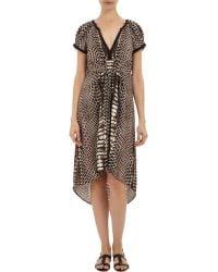 Twelfth Street Cynthia Vincent Python-Print High-Low Dress - Lyst