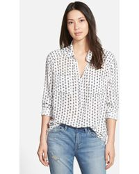 Ace Delivery - Collared Popover Top - Lyst