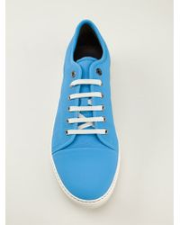 Lanvin Laceup Sneakers - Lyst