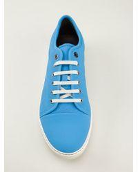 Lanvin Blue Laceup Sneakers - Lyst