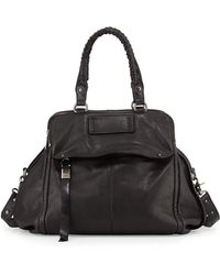 Kooba Angela Leather Satchel Bag Black - Lyst