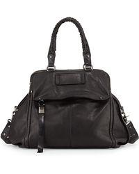 Kooba Angela Leather Satchel Bag Black - Lyst