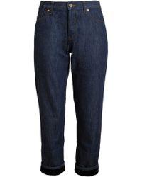 Marni Velvet Turn-Up Denim Jeans - Lyst