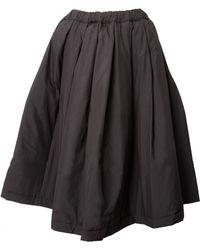 Comme Des Garçons Quilted Drawstring Skirt Black - Lyst