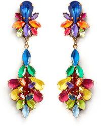 Erickson Beamon 'Splash' Crystal Flower Drop Earrings - Lyst