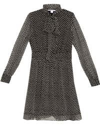 Diane von Furstenberg Arabella Tie Neck Silk Dress