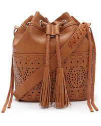 Forever 21 Faux Leather Bucket Bag - Brown