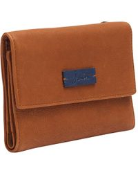 Joules Finchley Leather Purse - Brown