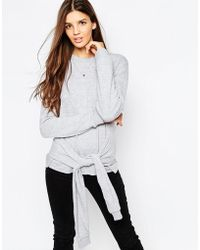 Daisy Street | Sweatshirt With Knot Front | Lyst