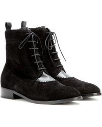 Balenciaga Suede Brogue Chelsea Boots - Lyst