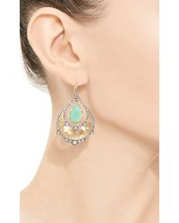 Arman Sarkisyan - Chrysoprase and White Diamond One Of A Kind Peacock Earrings - Lyst