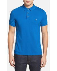 French Connection 'Simple' Slim Fit Pique Polo - Lyst
