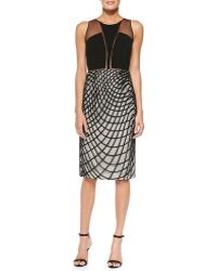 Sachin & Babi Khloe Cocktail Sheath Dress W Wavy Diamond Skirt - Lyst
