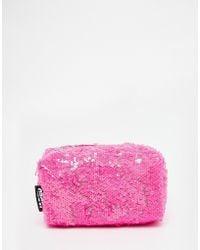 Jaded London - Pink Sequin Make-up Bag - Lyst