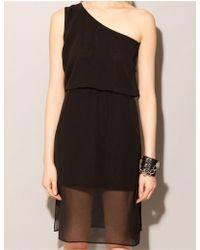 Pixie Market Little Black Asymmetric Dress - Lyst