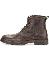 John Varvatos Stanley Wingtip Leather Boot - Lyst