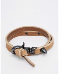 DIESEL - Bracelet In Wraparound With Logo - Lyst