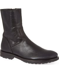 Ann Demeulemeester Leather Ankle Boots - Lyst
