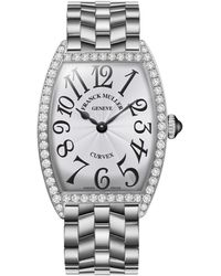 Franck Muller - Ladies Curvex Stainless Steel Diamond Watch - Lyst
