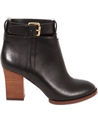 Report Signature Marlah Leather Booties - Lyst