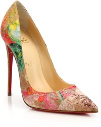 Christian Louboutin | Cork Point-toe Pumps | Lyst