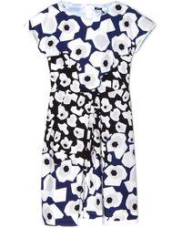 Jil Sander Navy Abito Navy/White Printed Dress - Lyst