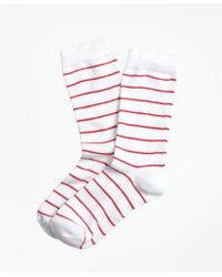 Brooks Brothers   Stripe Crew Socks   Lyst
