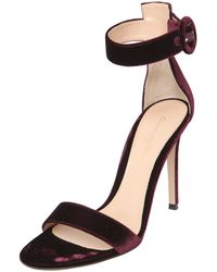 Gianvito Rossi 100Mm Velvet Sandals purple - Lyst