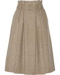 By Malene Birger Lollila Pleated Wool-blend Skirt - Lyst