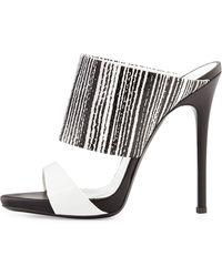 Giuseppe Zanotti Snake-Print High-Heel Slide Sandal - Lyst