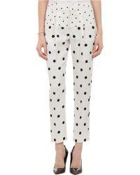Wayne - Dot-Pattern Pleated Trousers - Lyst