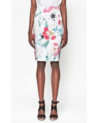 French Connection Floral Reef Pencil Skirt - Lyst