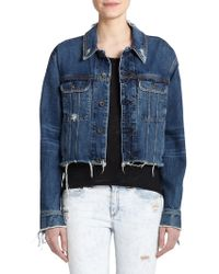 Rag & Bone/JEAN Cropped Boyfriend Denim Jacket - Lyst