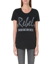 Zoe Karssen Rebel T-shirt - Lyst