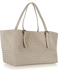 Bottega Veneta Small Intrecciato Leather Tote - Lyst