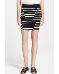 Band of Outsiders Step Stripe Jacquard Skirt - Lyst