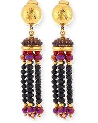 Jose & Maria Barrera | Crystal Tassel Clip-on Earrings | Lyst