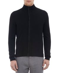 Michael Kors Zip Front Sweater with Elbow Patches - Lyst