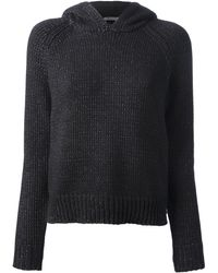 T By Alexander Wang Chunky Knit Hoodie - Lyst