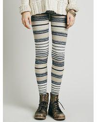 Free People Womens Marbled Stripe Legging - Lyst
