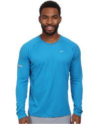 Nike Miler L/S Uv Shirt - Lyst