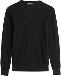 Michael Kors Linen-Cotton V-Neck Pullover - Lyst