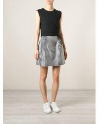 Mauro Grifoni - Vichy Check Print Skirt - Lyst