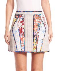 BCBGMAXAZRIA | Andrick Quilted Patchwork Miniskirt | Lyst