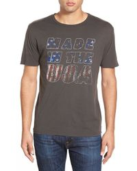Project Social T - 'made In The Usa' Graphic Crewneck T-shirt - Lyst